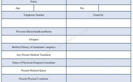 Patient Query Form Template in Word Format