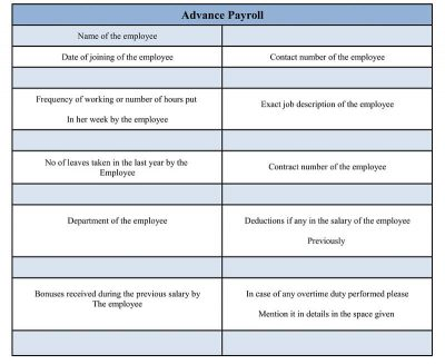 Salary Advance and Payroll Deduction Form Word Doc, sample Salary Payroll Form