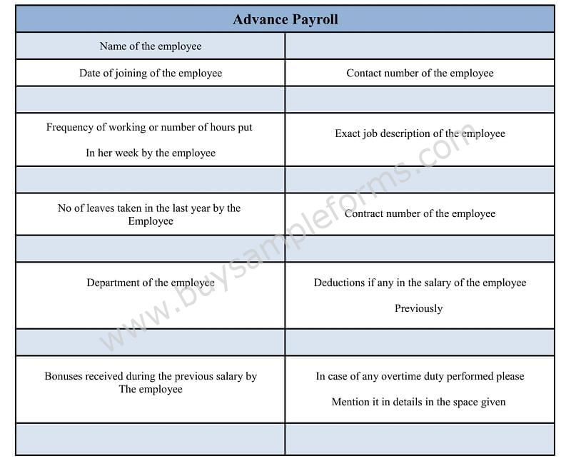 Salary Advance And Payroll Deduction Form In Word Doc