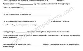 Simple Free Month to Month Rental Agreement in Word Format