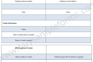Check Requisition Form | Cheque Requisition Form Template Word