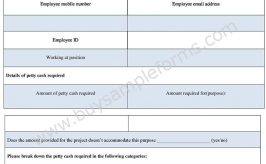 Petty Cash Requisition Form Word – Sample Requisition Form Template
