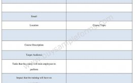 Employee Training Requisition Form Template Word