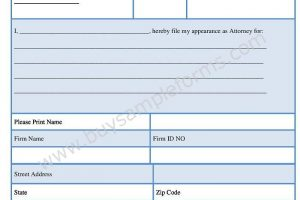 Bankruptcy Appearance Form Template