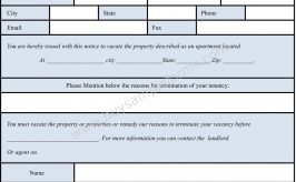 Apartment Eviction form Template – Printable Eviction Form