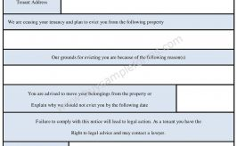 Tenant Eviction Form – Tenant Eviction Notice Template