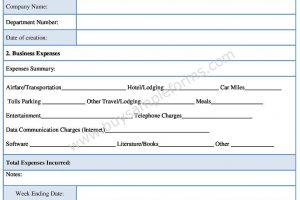 Employee Expense Form Template
