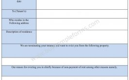 Non-Payment of Rent Eviction Form in Word Doc