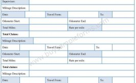 Mileage Expense Form Template Word – Expense Reimbursement Form