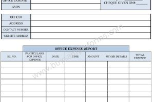 Office Expense Form Template   Expense Form Template Word