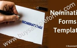Nomination Forms Template | Online Nomination Forms