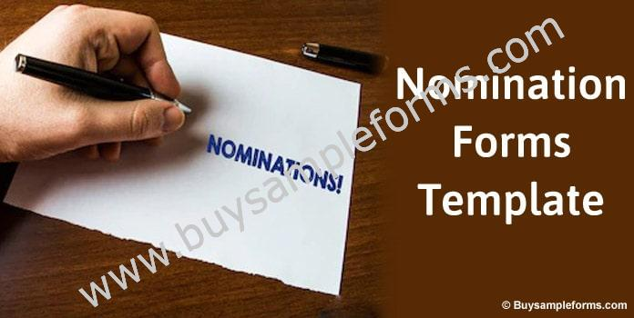 Nomination Form Template, Online Nomination Forms