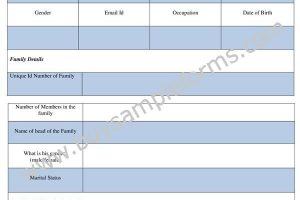 Sample Family Nomination Form Template