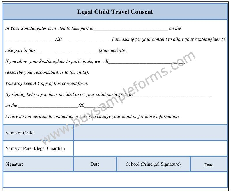 Printable Parental Consent Form Template Word