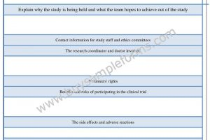 Informed Consent form Clinical Trials Template