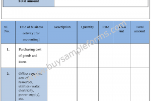 Sample Business Accounting Form – Accounting  Template