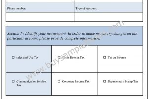 Employer Account Change Form Template and Sample