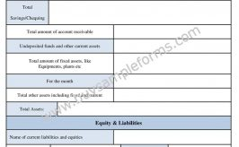Printable Bookkeeping Form and Accounting Template