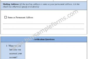 Sample Account Recovery Form Template