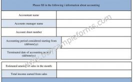 Printable General Accounting Form Template in Word/PDF
