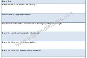 Employee Annual Appraisal Form Template Word