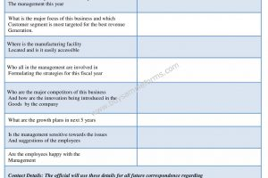 Example Business Appraisal Form  in Word Template