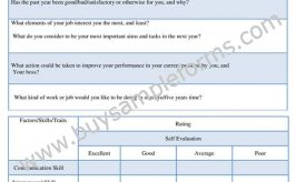 Sample Self Appraisal Form Template, Example and Word Format