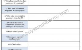 Sample Church Accounting Form Template Word Format