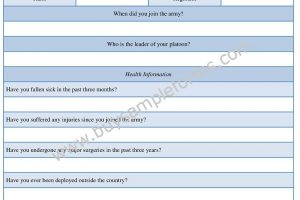 Army Risk Assessment Form Sample, Example | Word Template
