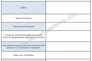 Printable Estate Accounting Form Template, Example Word
