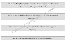 Mental Health Assessment Form Example, Template Online Word
