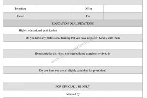 Interview Assessment Form Sample, Template Word Document