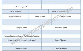 Printable Medical Treatment Authorization Form Template