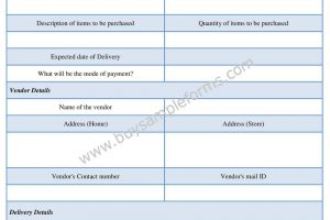 Simple Purchase Authorization Form Template Word Doc