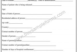 Printable Release Authorization Form | Word Template