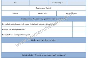 General Risk Assessment Form Example | Word Doc Template