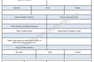 Short Sale Authorization Form Sample | Word Template
