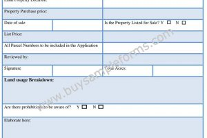 Printable Land Bill Of Sale Form | Word Template