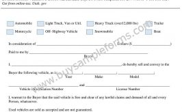 Sample Bill of Sale Word Format | Bill of Sale Example, Template
