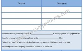 Standard Bill of Sale Form Word Template