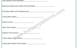 Printable Official Bill of Sale Form | Download Word Template
